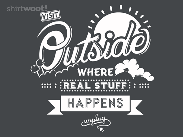 Woot!: Visit Outside Unisex Tank