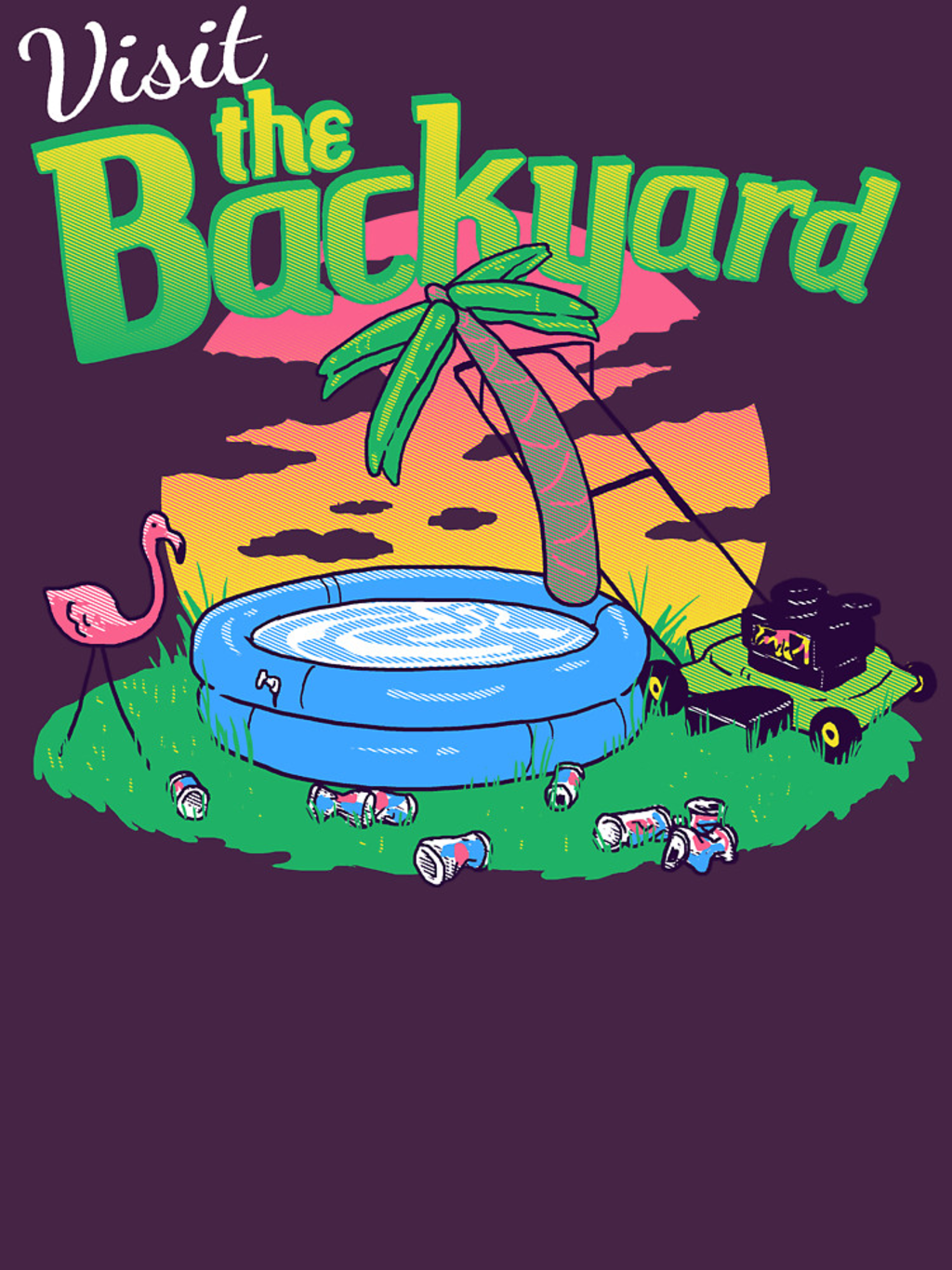 RedBubble: Backyard Vacation