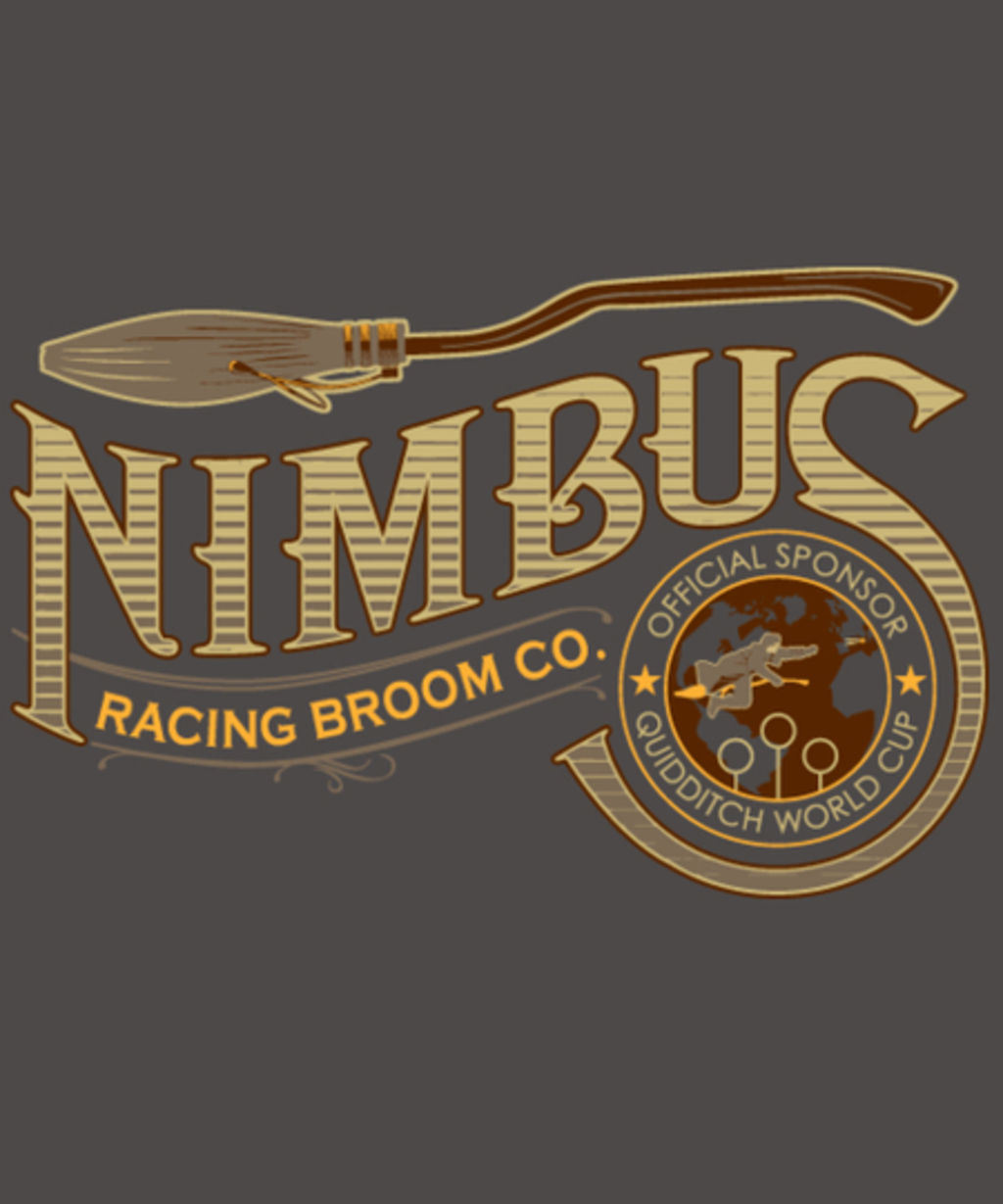Qwertee: Nimbus Racing Broom