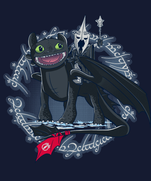 Qwertee: Witch King of Berk