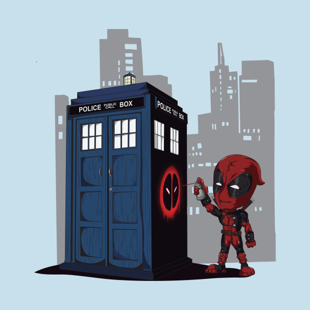 TeePublic: Defacing the Phonebox T-Shirt