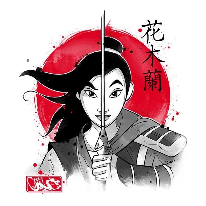 Once Upon a Tee: Warrior Princess Sumi-e