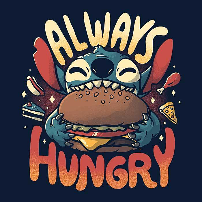Once Upon a Tee: Always Hungry