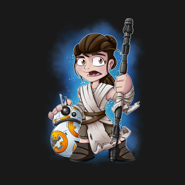 TeePublic: Rey and BB8