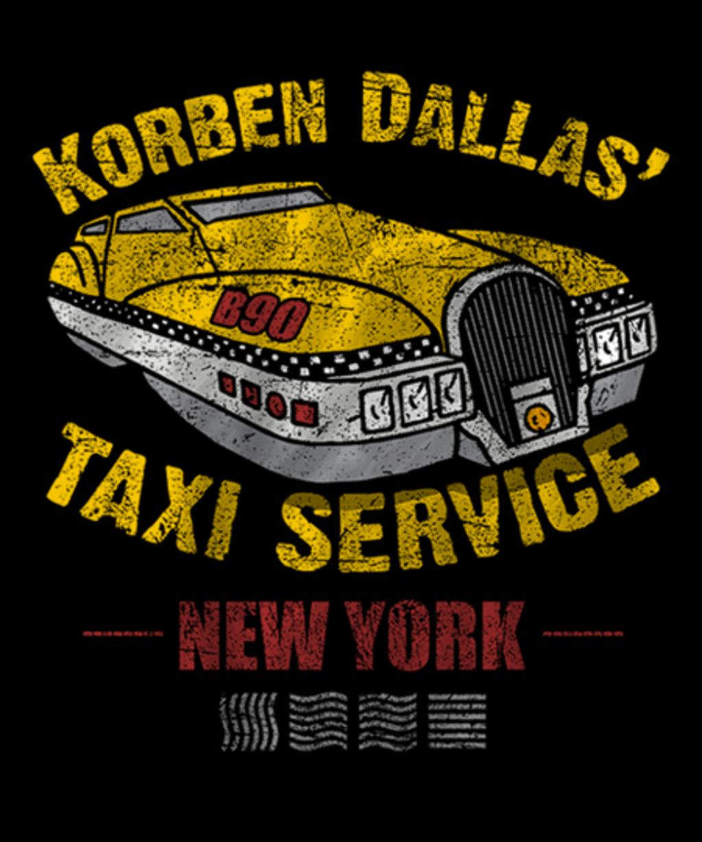 Qwertee: Korben Dallas' Taxi Service