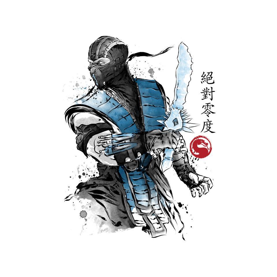 TeeFury: Ice Warrior Sumi-E
