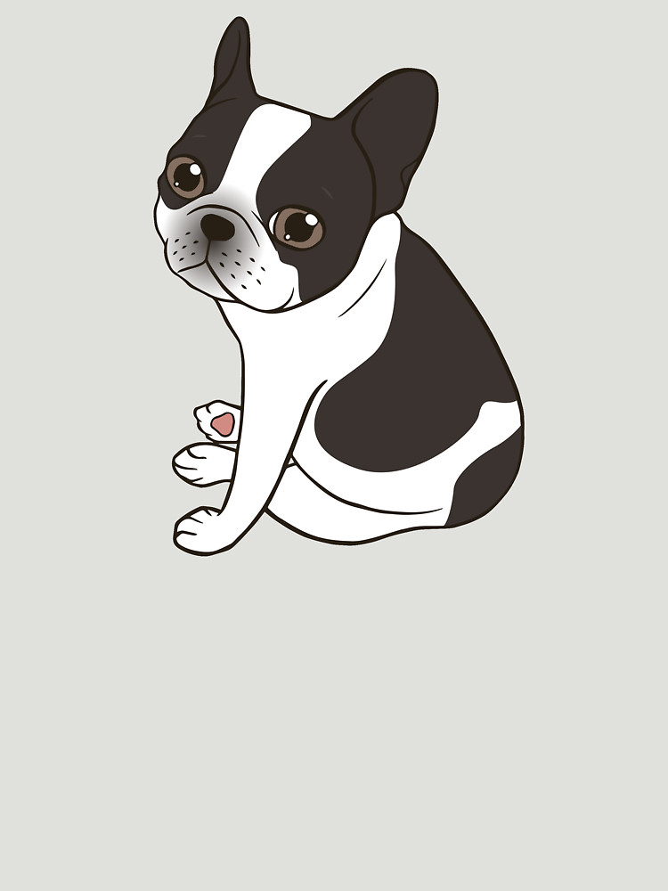 RedBubble: Say hello to the cute double hooded pied French Bulldog