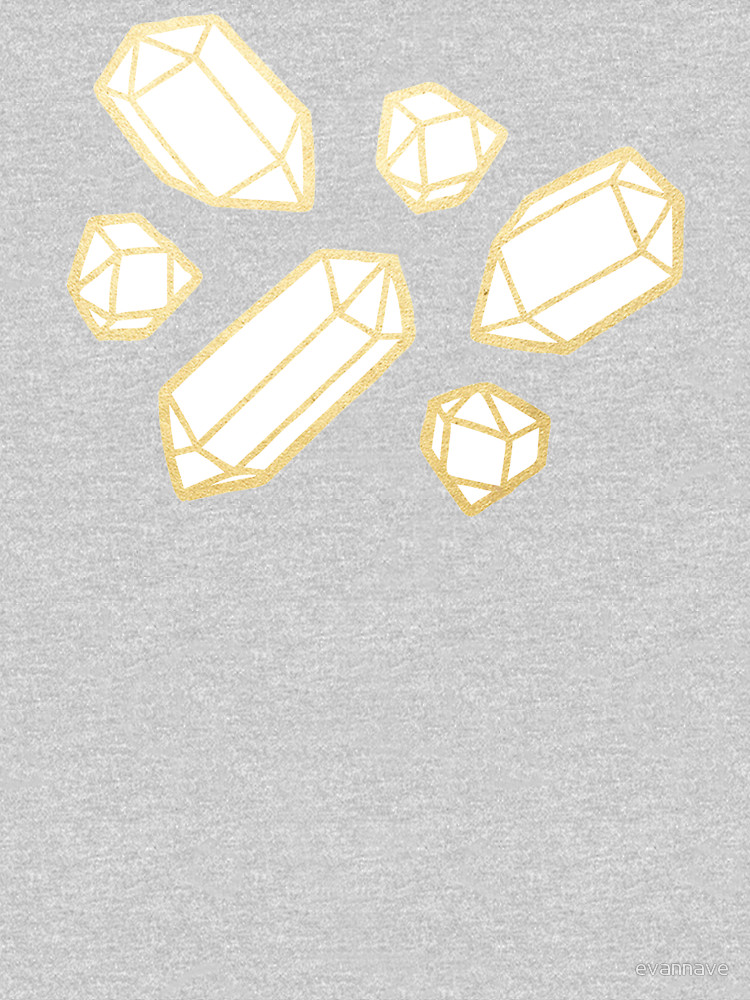 RedBubble: Gold and White Gemstone Pattern