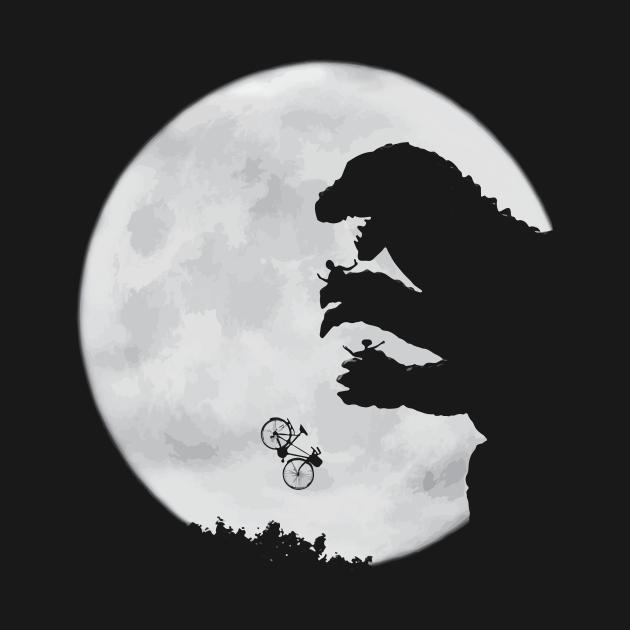 TeePublic: E.T. vs. Godzilla