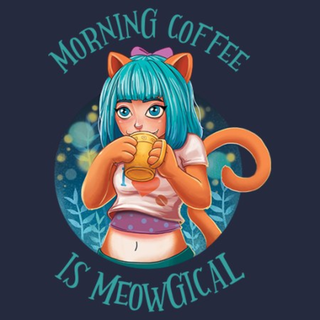 MeWicked: Morning Coffee Is Meowgical - Cute Cat