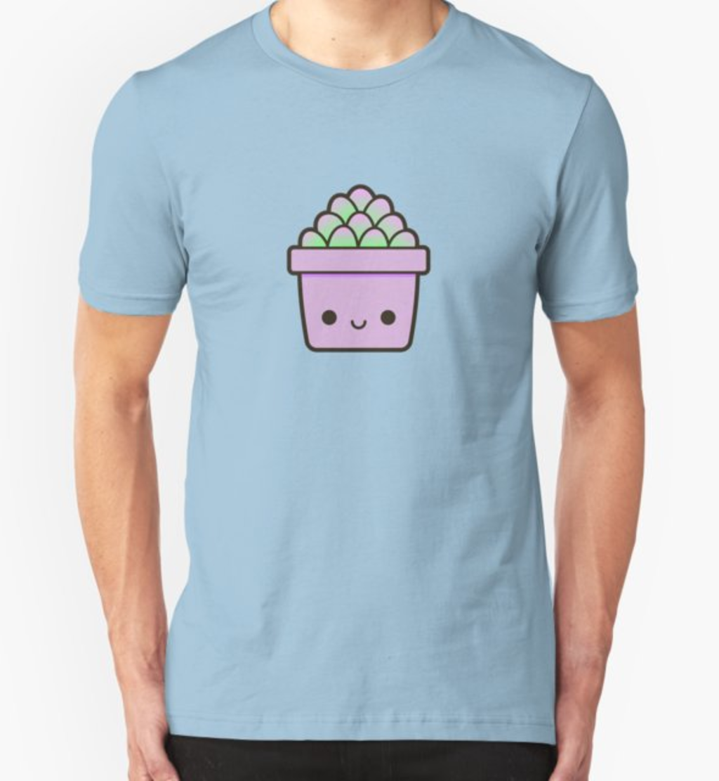 RedBubble: Succulent in cute pot