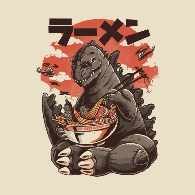 TeePublic: Kaiju's Ramen
