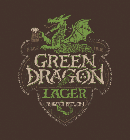 BustedTees: Green Dragon Lager