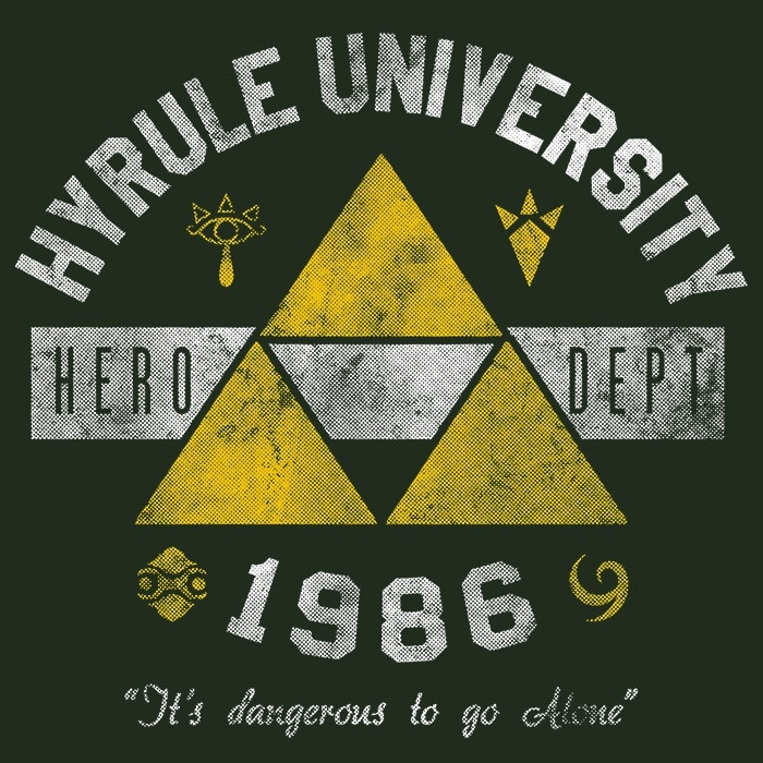 We Heart Geeks: Hyrule University - Men's T-Shirt