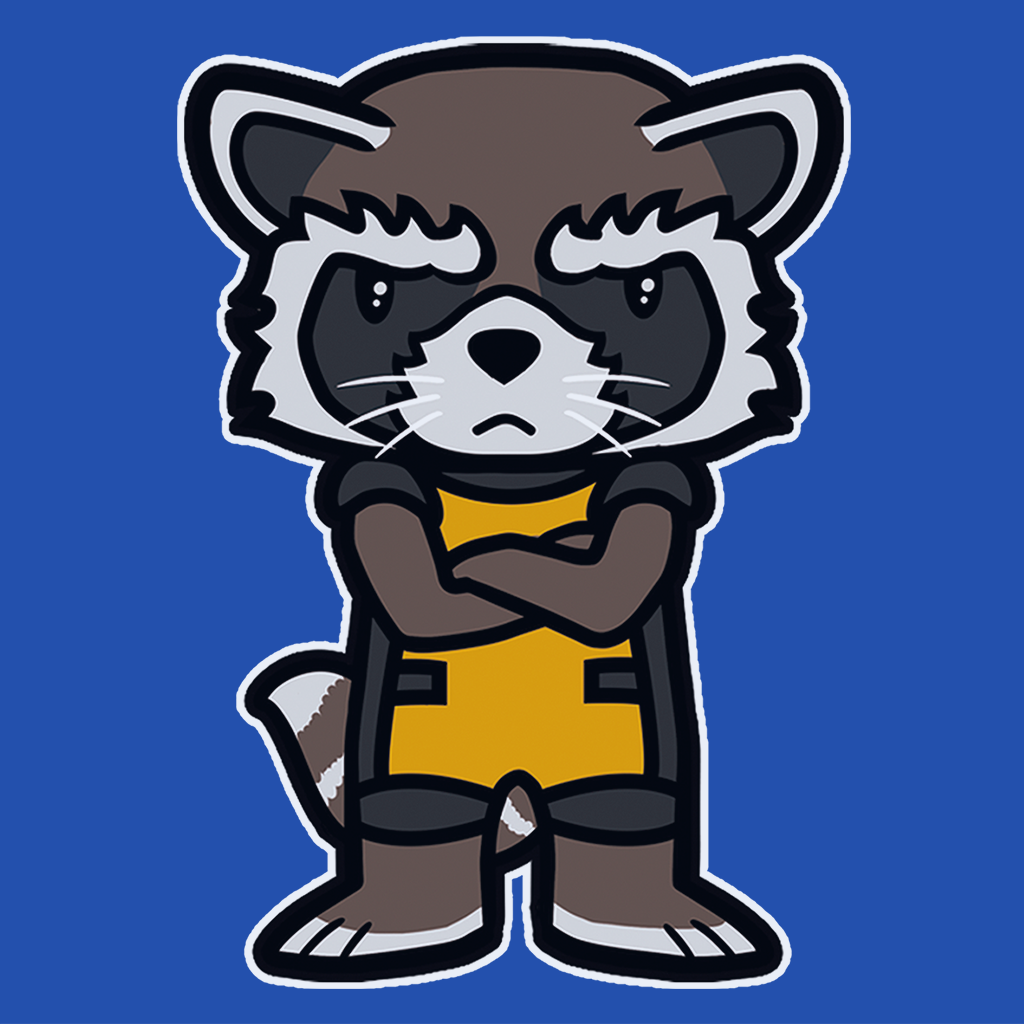 Pop-Up Tee: Angry Raccoon