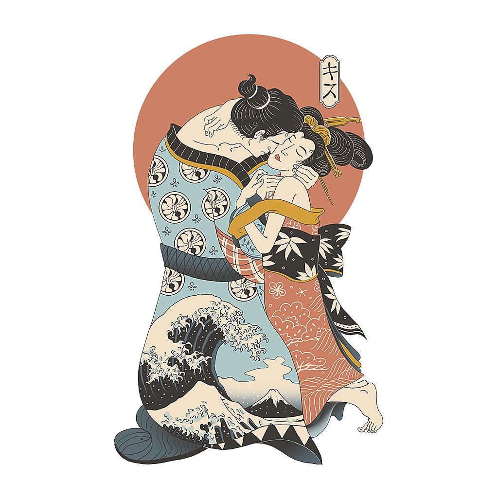TeeTee: The Kiss Ukiyo-e