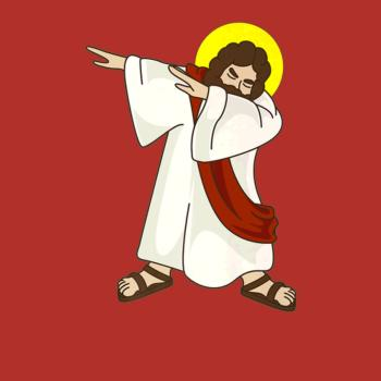 BustedTees: Funny Dabbing Jesus Christ Shirt