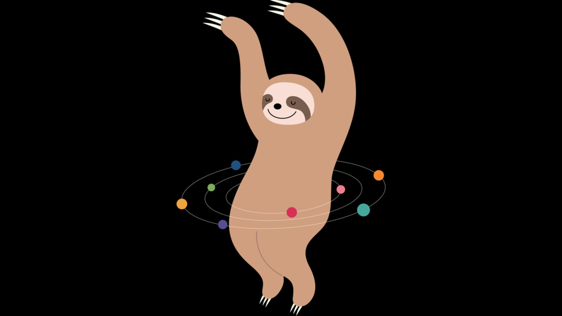Design by Humans: Sloth Galaxy