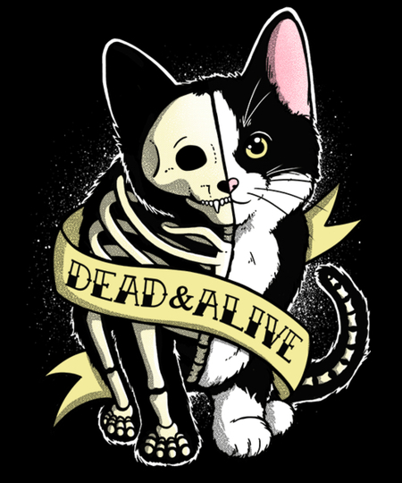 Qwertee: Schrodinger cat tattoo