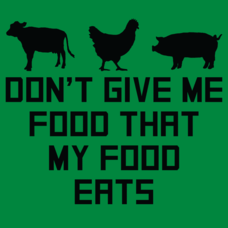 Textual Tees: Don't Give Me Food That My Food Eats