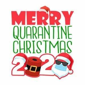 BustedTees: Merry Quarantine Christmas 2020 Raglan