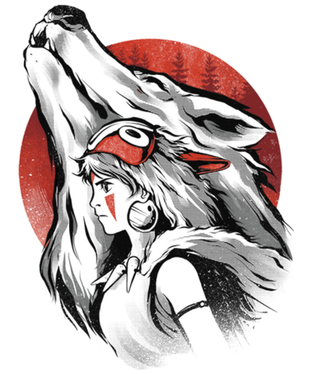 Qwertee: The girl and the wolf