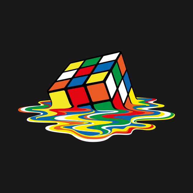 TeePublic: Sheldon Cooper - Melting Rubik's Cube