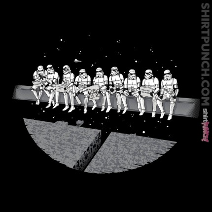 ShirtPunch: Lunch Atop A Deathstar