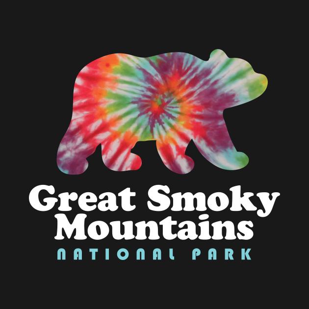 TeePublic: Great Smoky Mountains National Park Bear Tie Dye