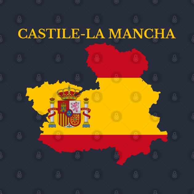 TeePublic: Castile-La Mancha Map, Spain
