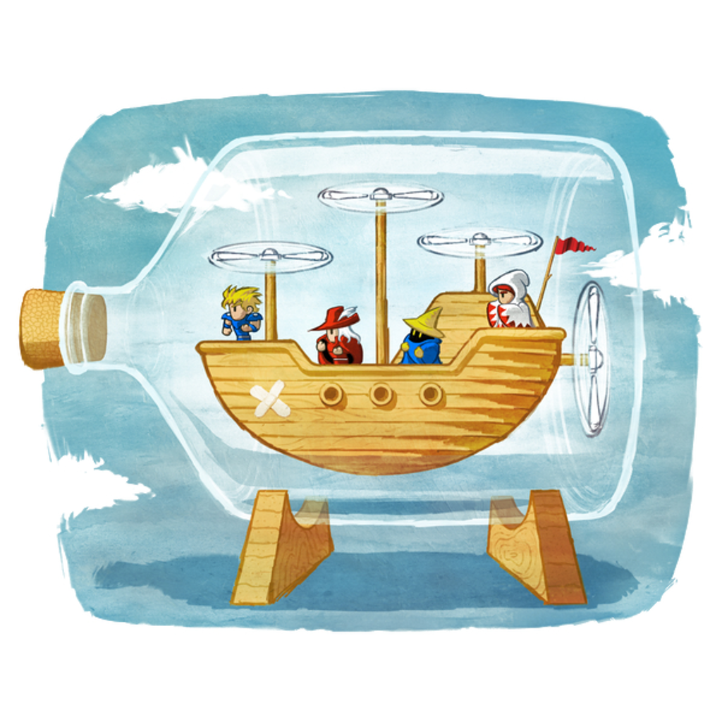 NeatoShop: Airship in a Bottle - Blue