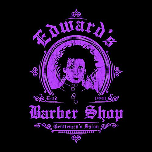 Five Finger Tees: Edward's Barber Shop T-Shirt