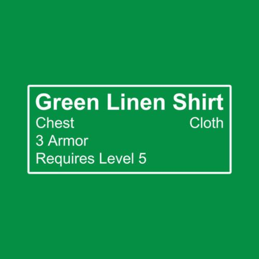 Five Finger Tees: Green Linen Shirt T-Shirt