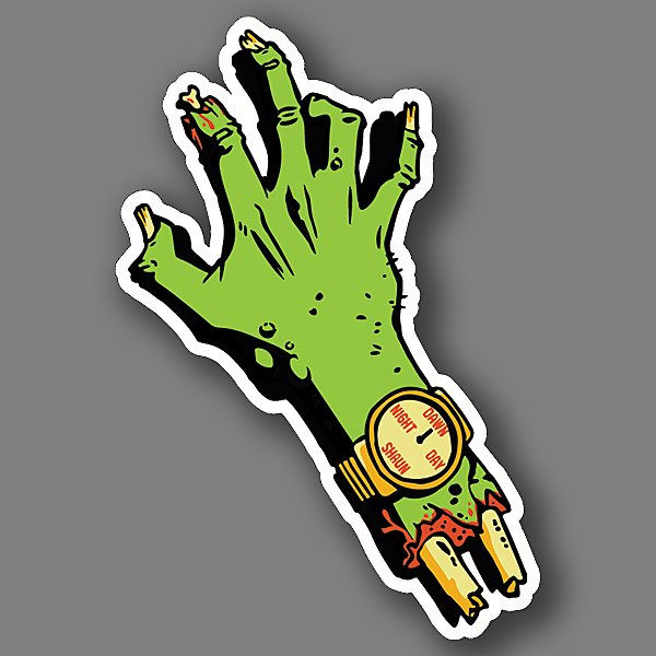 BustedTees: Zombie Time Vinyl Sticker