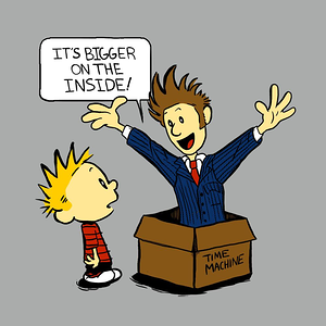 Blue Box Tees: Calvin and The Doctor
