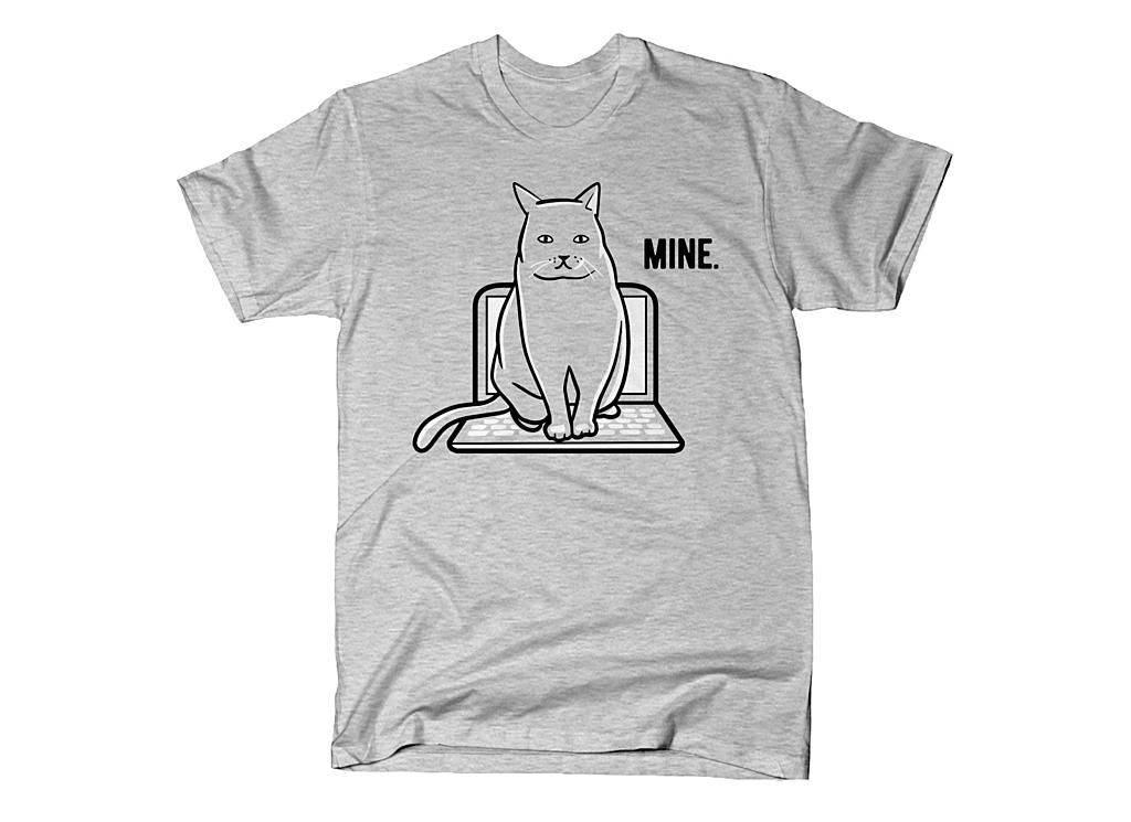 SnorgTees: Mine Computer Cat