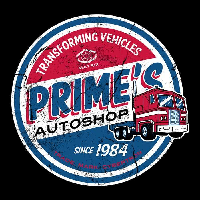 Once Upon a Tee: Prime's Auto Shop