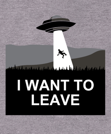 Qwertee: I Want To Leave