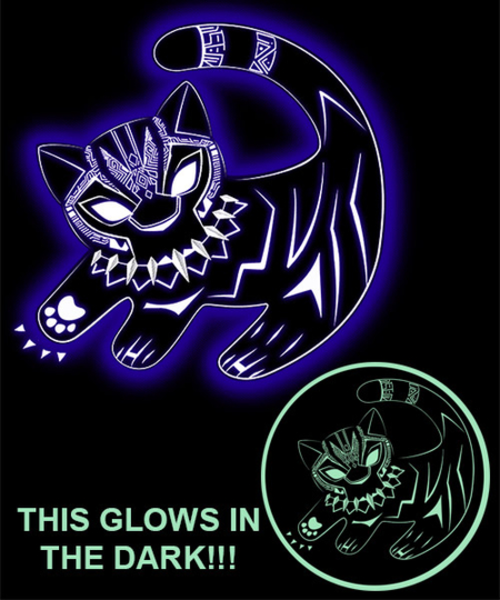 Qwertee: The glowing panther king