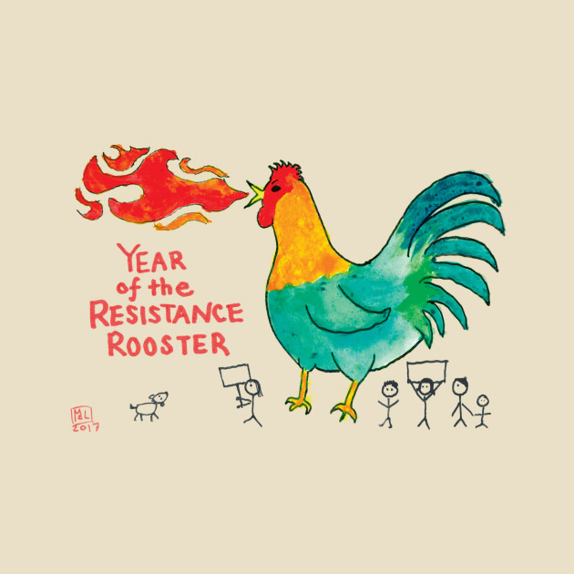 TeePublic: Resistance Rooster