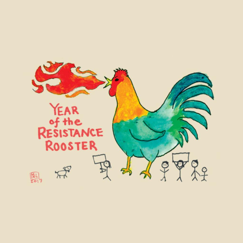 TeePublic: Resistance Rooster