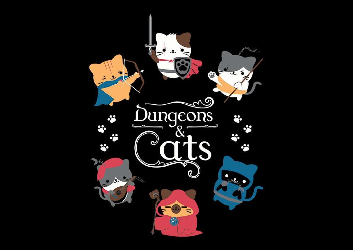 TeeFury: Dungeons & Cats