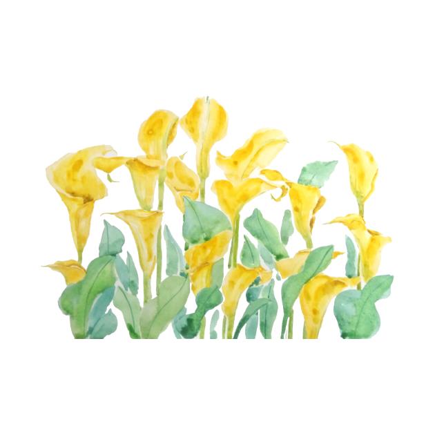 TeePublic: yellow call lily branch