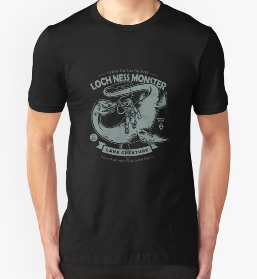 RedBubble: Lochness Monster - Cryptids Club Case file #200