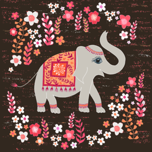 RedBubble: Elephants in the Flower Garden