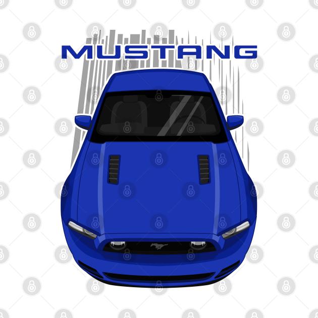TeePublic: Mustang GT 2013 to 2014 - Blue