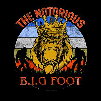 BustedTees: The Notorious BIGFOOT Retro T-shirt