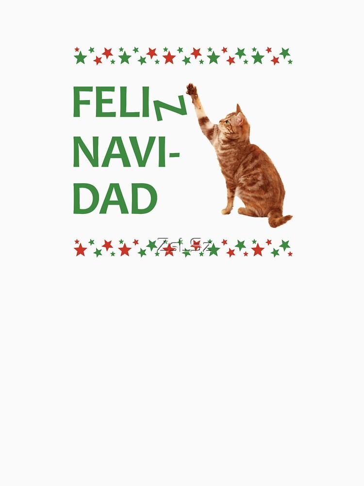 RedBubble: Feliz navidad, felin navidad. Catty Christmas!