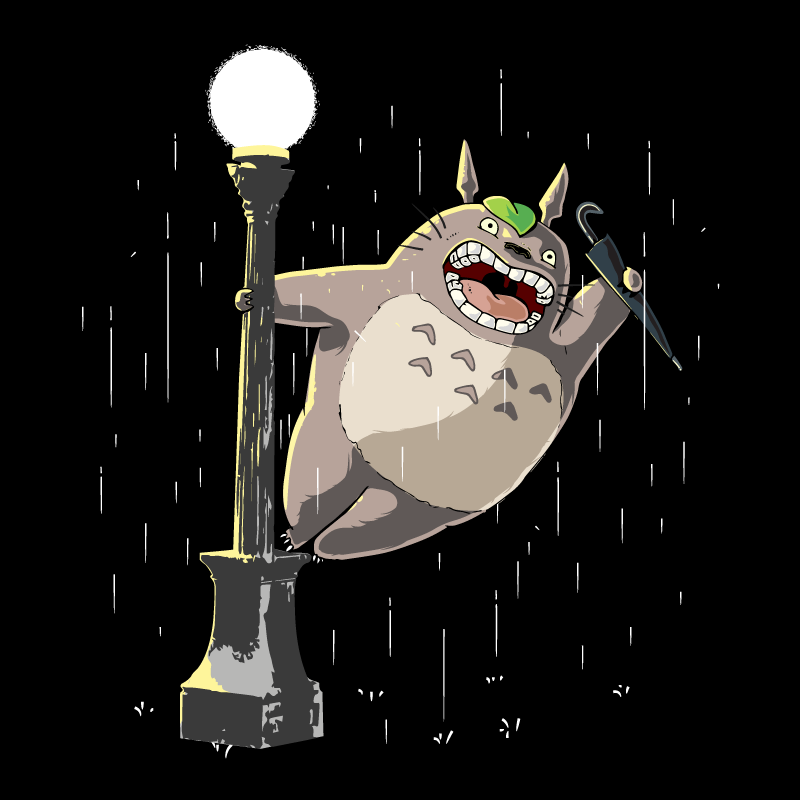 Wear Viral: Totoro in the Rain
