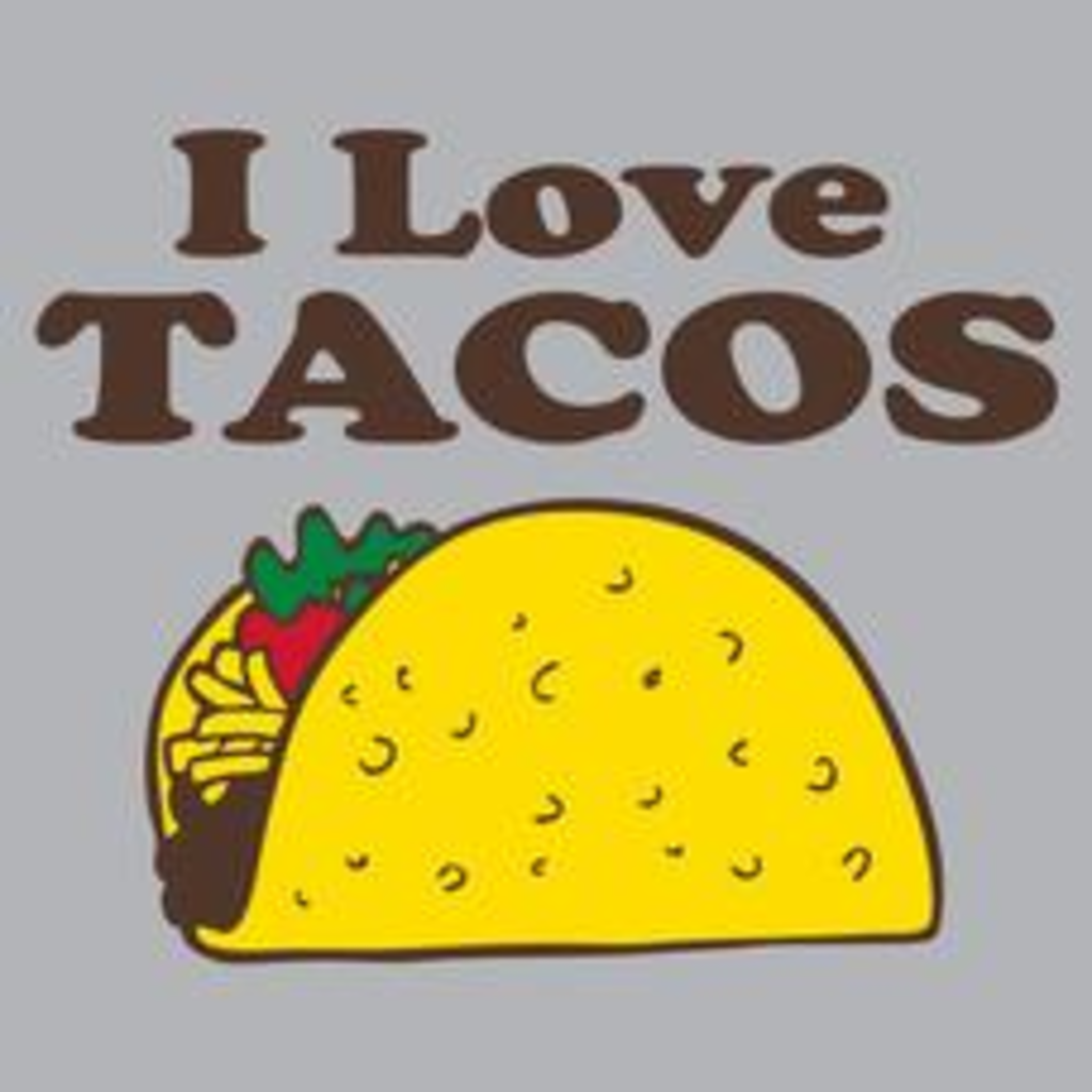 Textual Tees: I Love Tacos T-Shirt